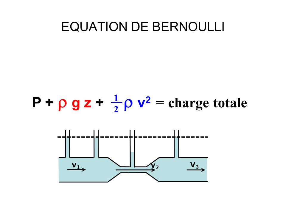 P + r g z + r v2 = charge totale