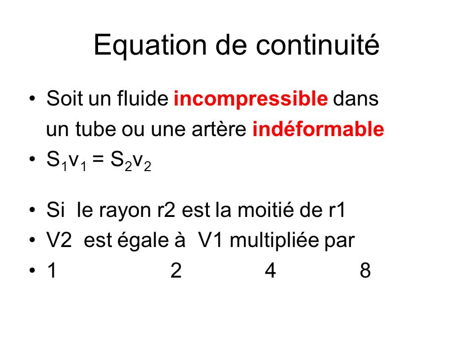 Equation de continuité