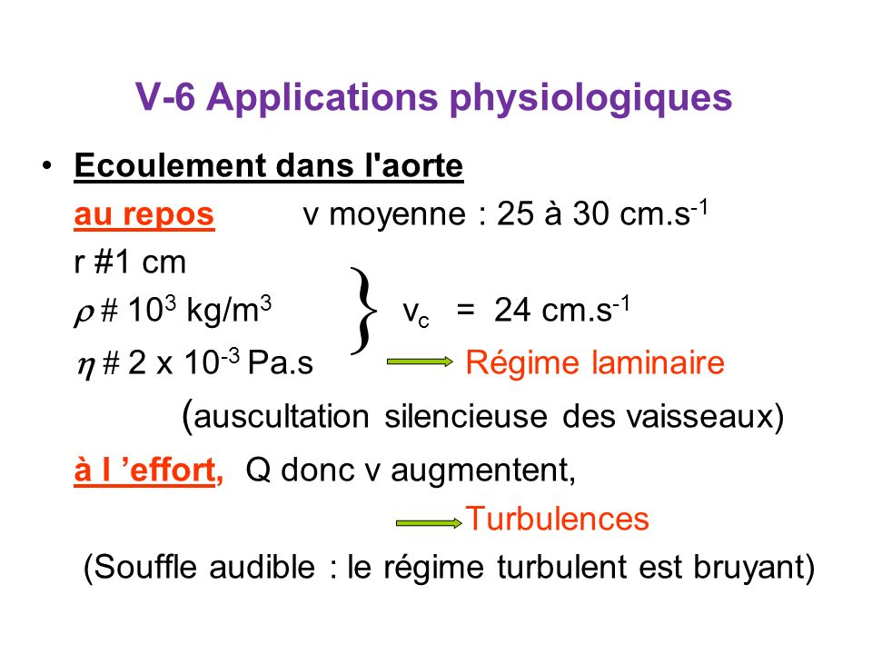 V-6 Applications physiologiques