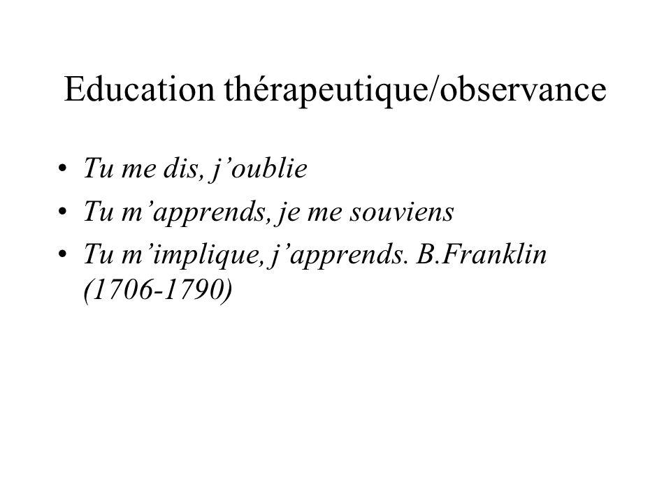 Education thérapeutique/observance