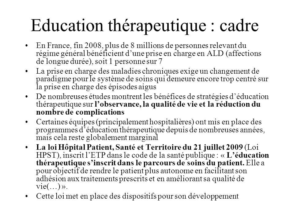 Education thérapeutique : cadre