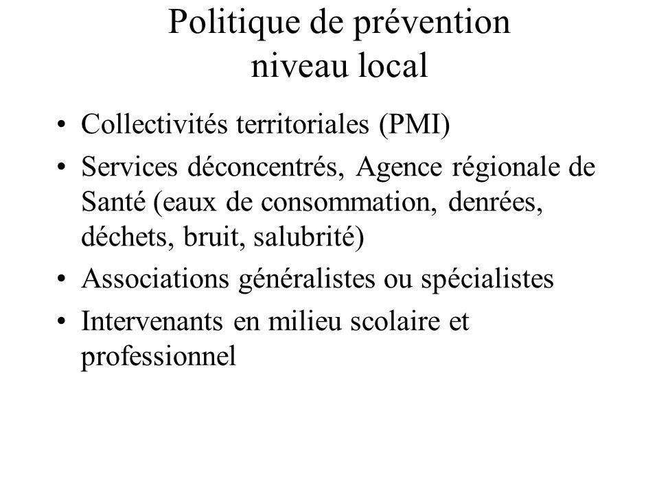 Politique de prévention niveau local