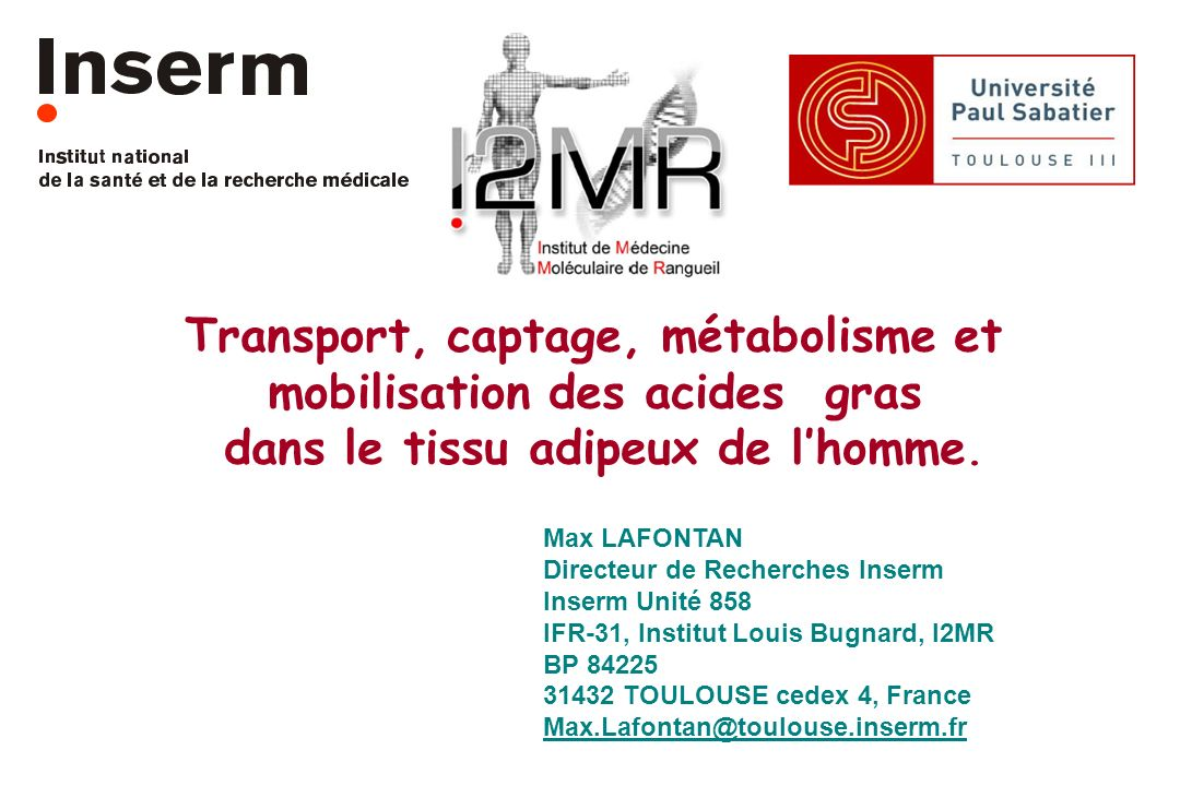 Transport, captage, métabolisme et mobilisation des acides gras