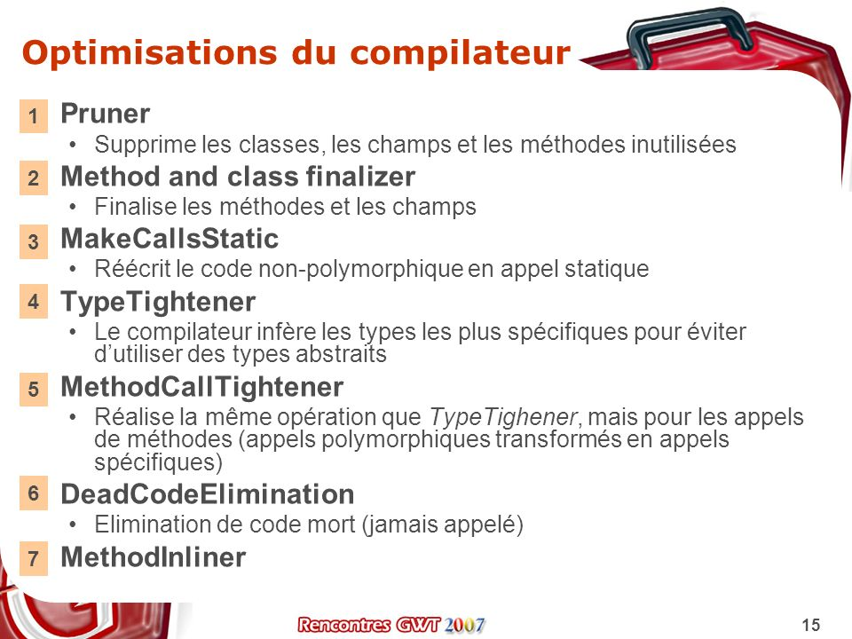 Optimisations du compilateur