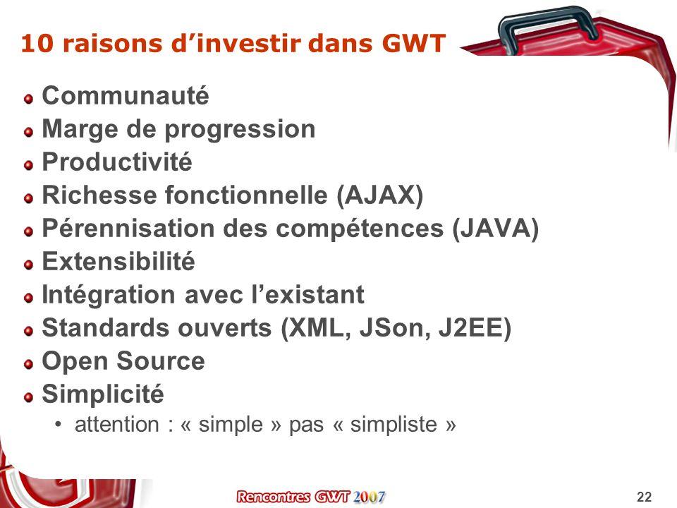 10 raisons d'investir dans GWT