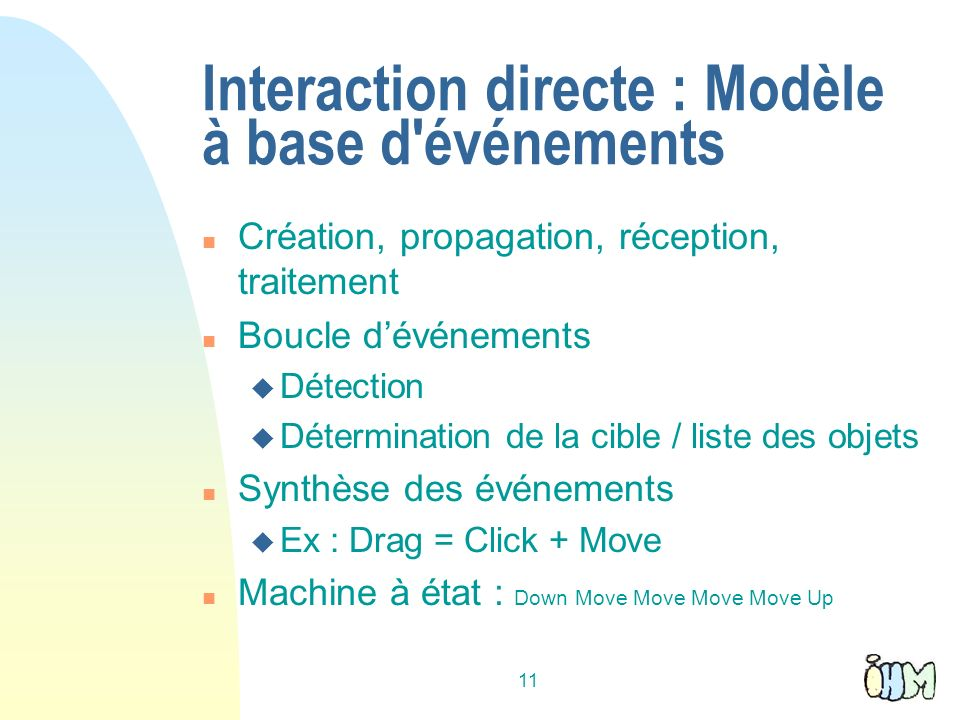 Interaction directe : Modèle à base d événements