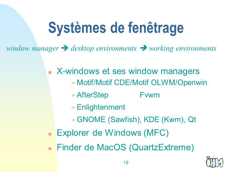 Systèmes de fenêtrage X-windows et ses window managers