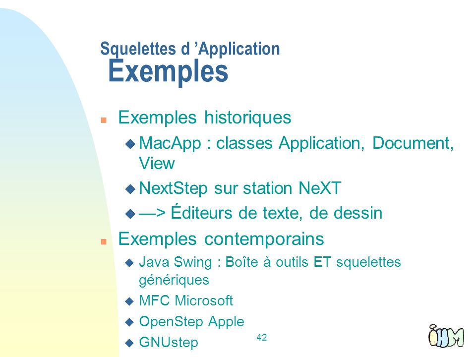 Squelettes d 'Application Exemples