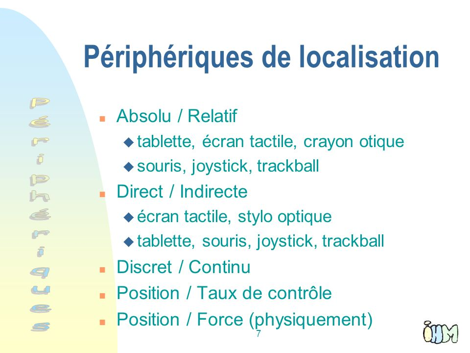 Périphériques de localisation