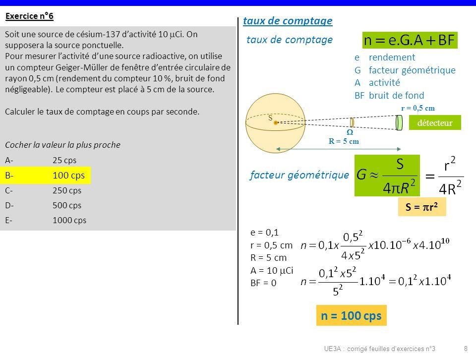 UE3A : corrigé feuilles d exercices n°3