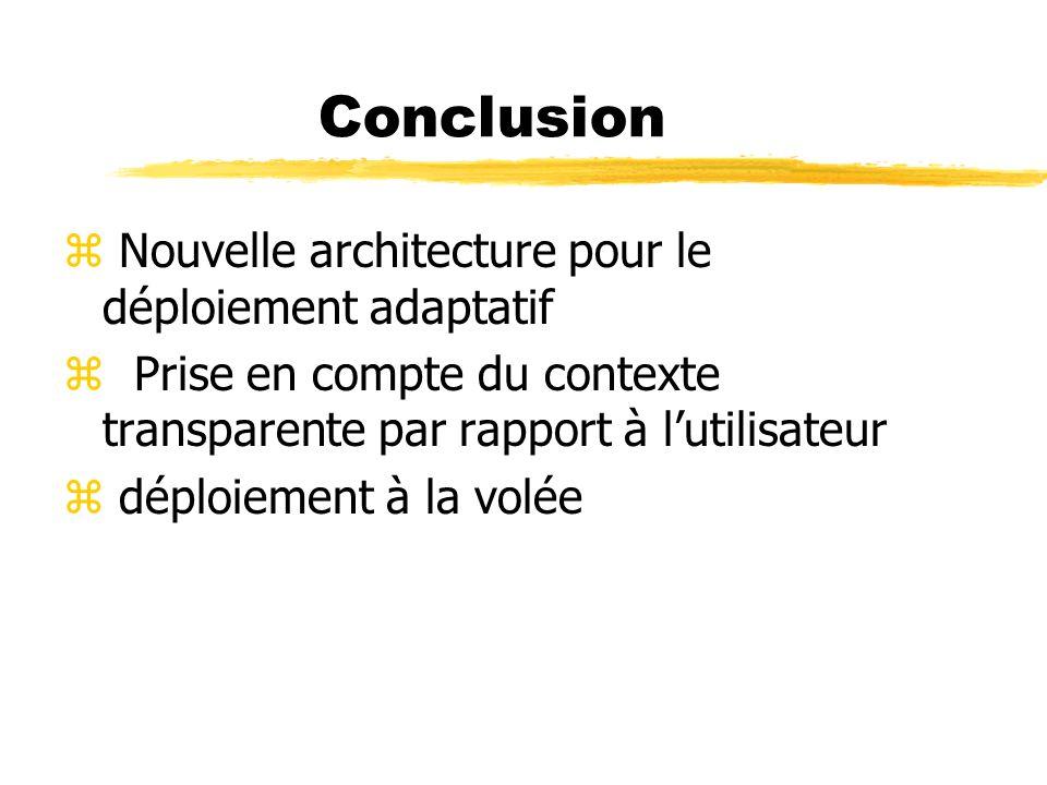 Conclusion Nouvelle architecture pour le déploiement adaptatif