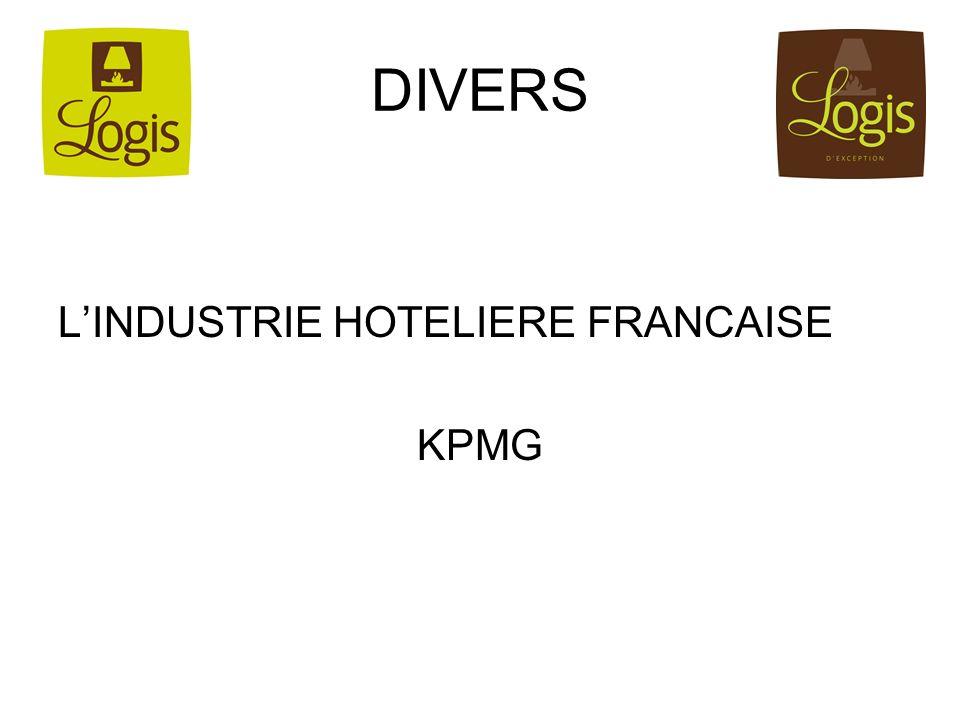 DIVERS L'INDUSTRIE HOTELIERE FRANCAISE KPMG