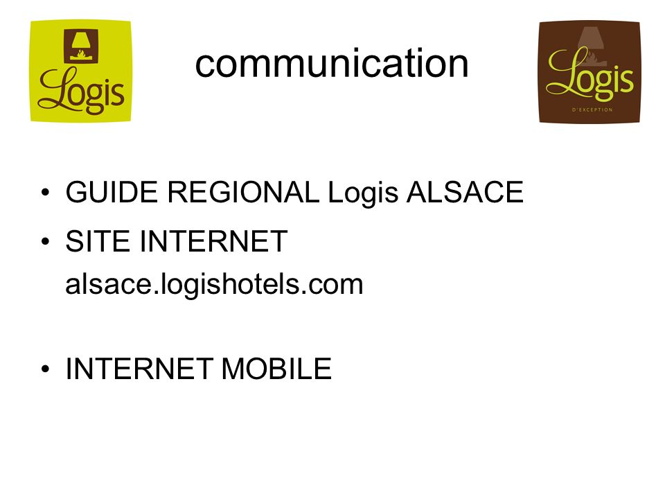 communication GUIDE REGIONAL Logis ALSACE SITE INTERNET