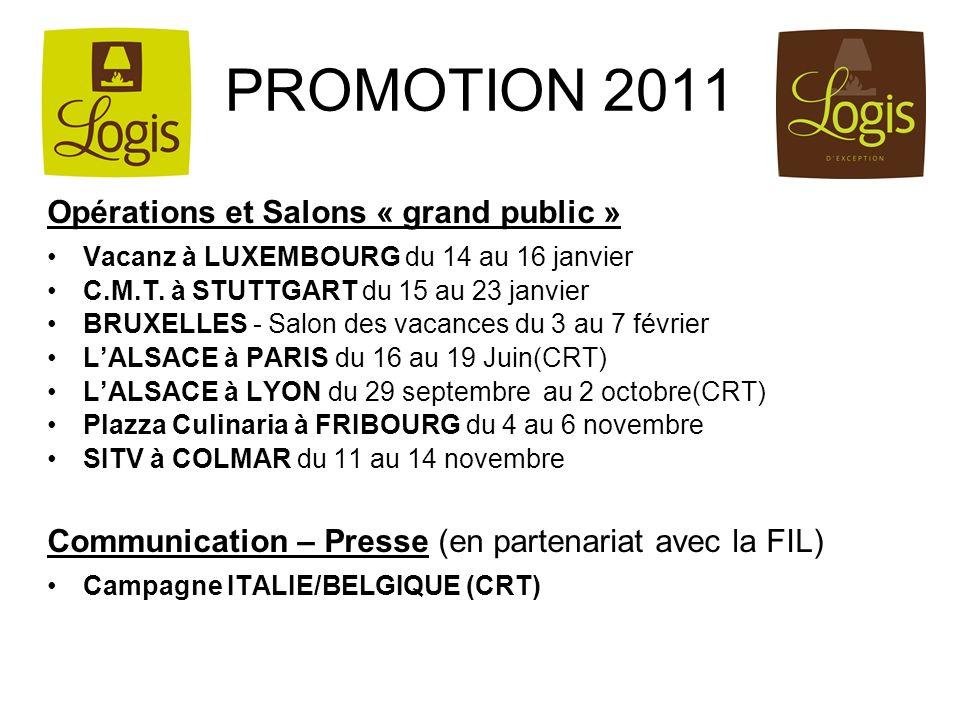 PROMOTION 2011 Opérations et Salons « grand public »