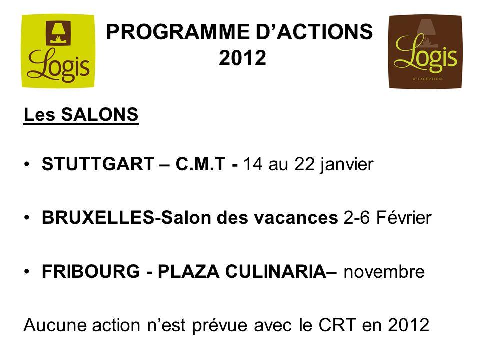 PROGRAMME D'ACTIONS 2012 Les SALONS