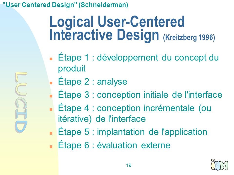 Logical User-Centered Interactive Design (Kreitzberg 1996)‏