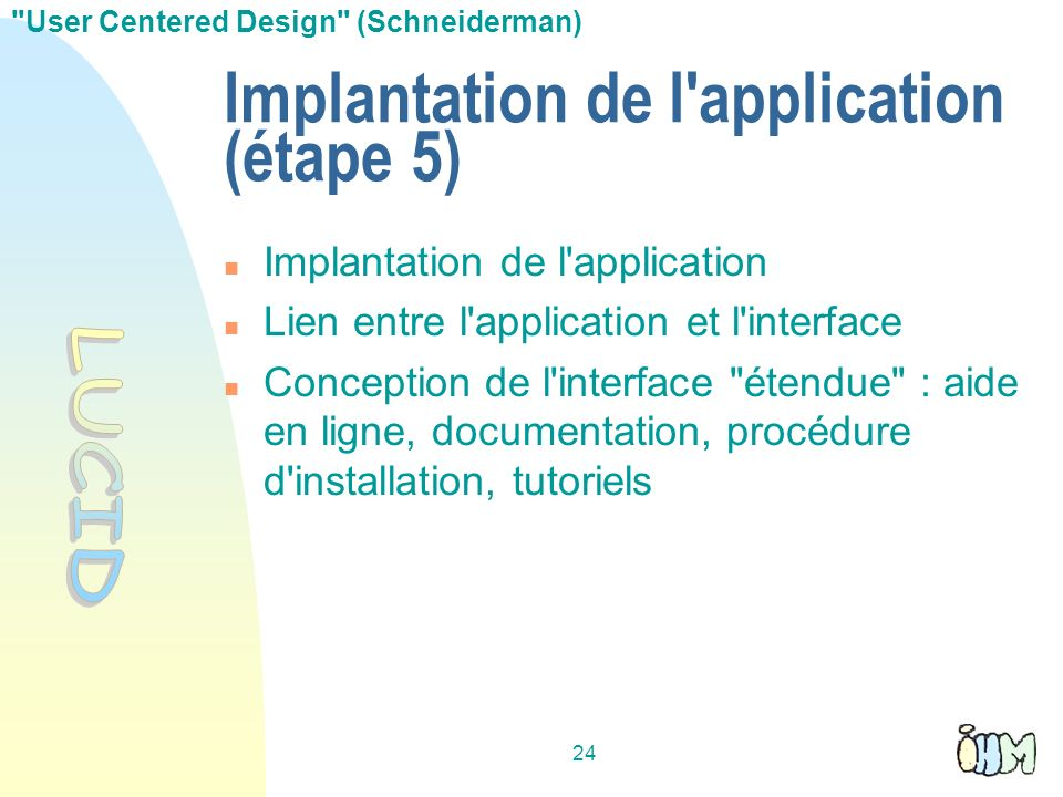 Implantation de l application (étape 5)‏