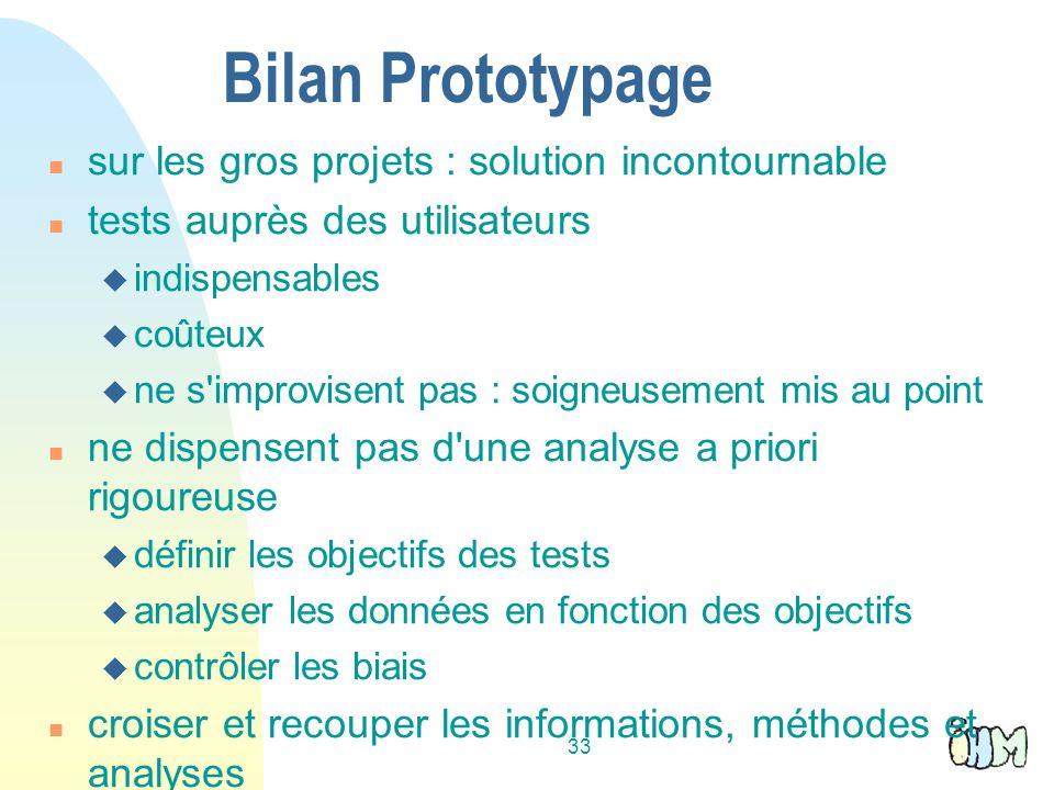 Bilan Prototypage sur les gros projets : solution incontournable