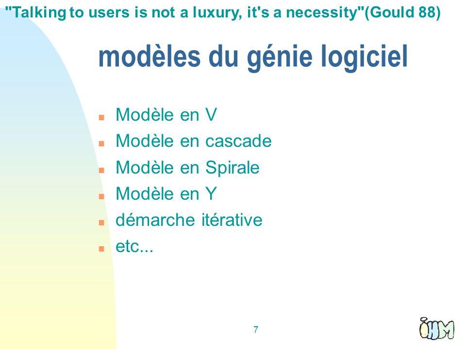 modèles du génie logiciel