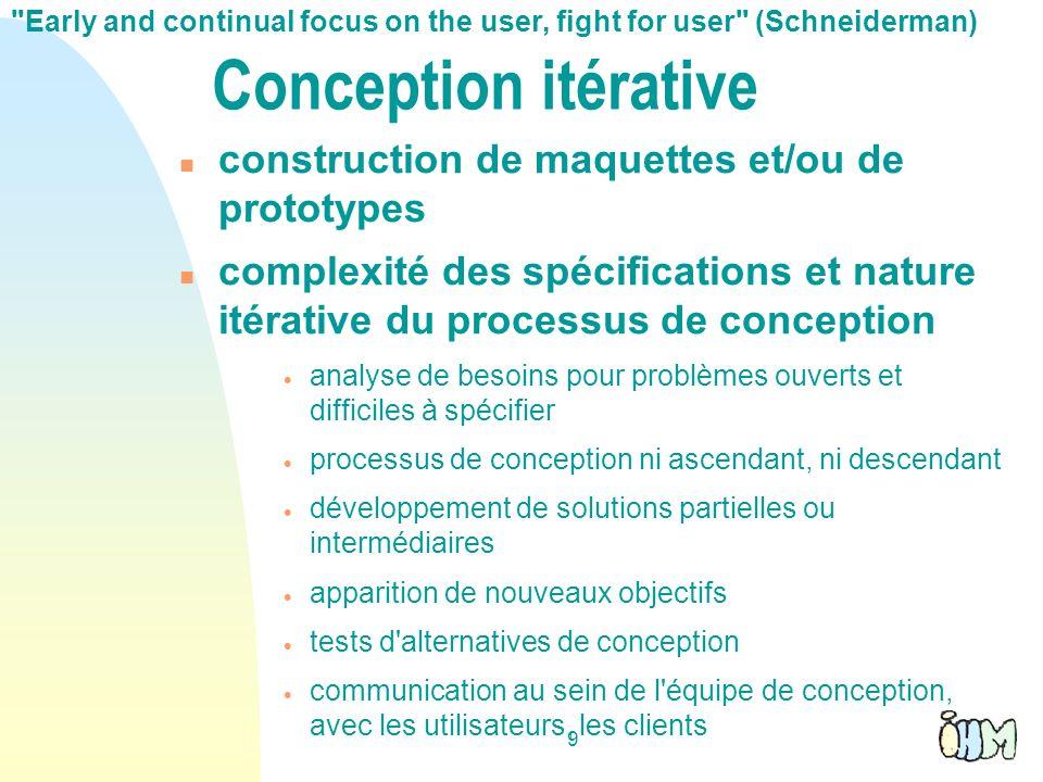 Conception itérative construction de maquettes et/ou de prototypes