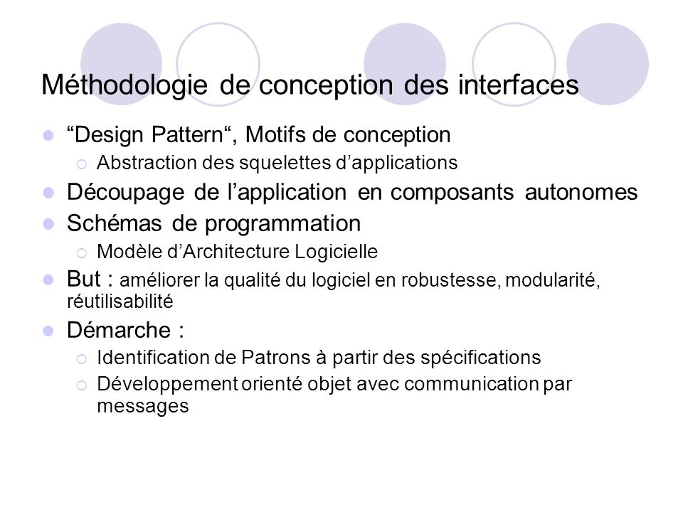 Méthodologie de conception des interfaces