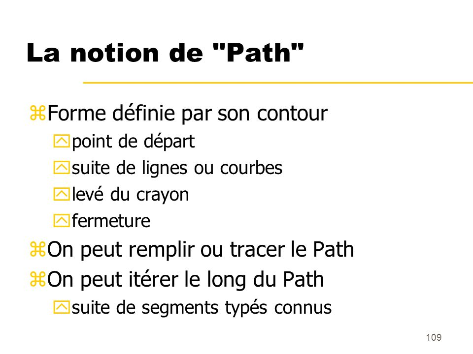 La notion de Path Forme définie par son contour