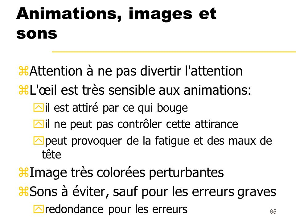 Animations, images et sons