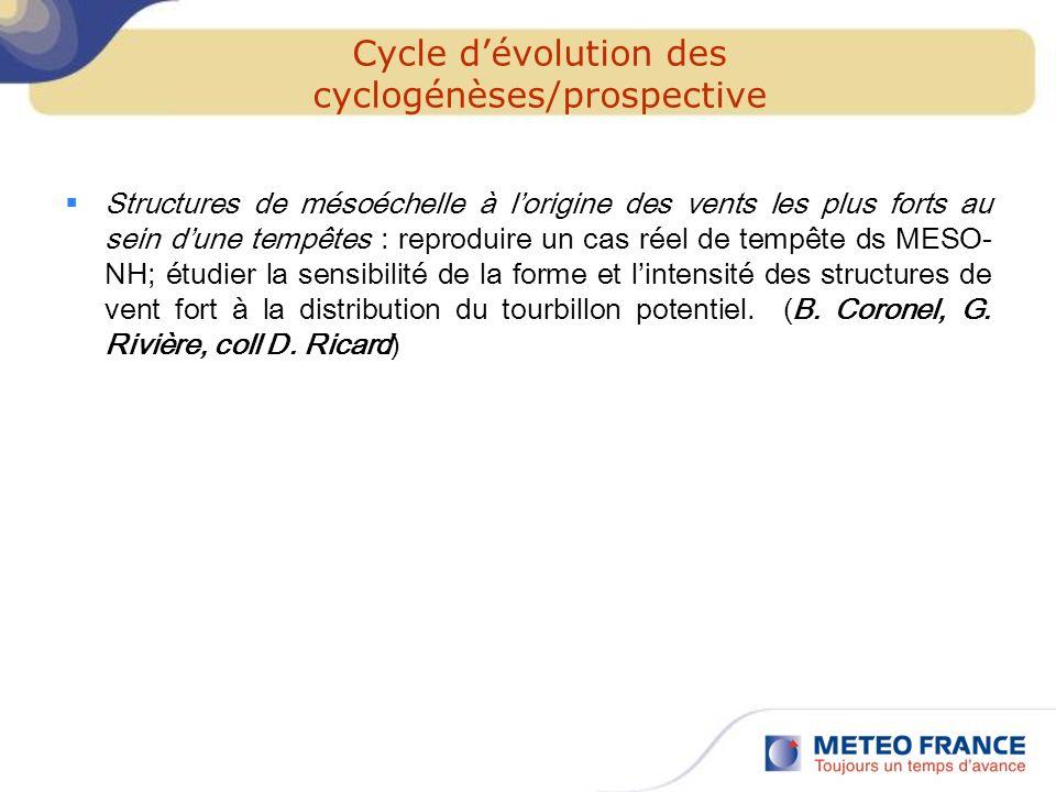 Cycle d'évolution des cyclogénèses/prospective