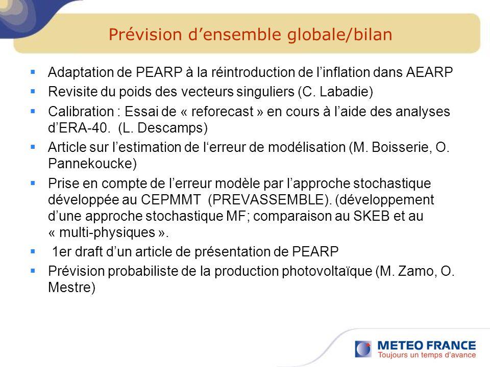 Prévision d'ensemble globale/bilan