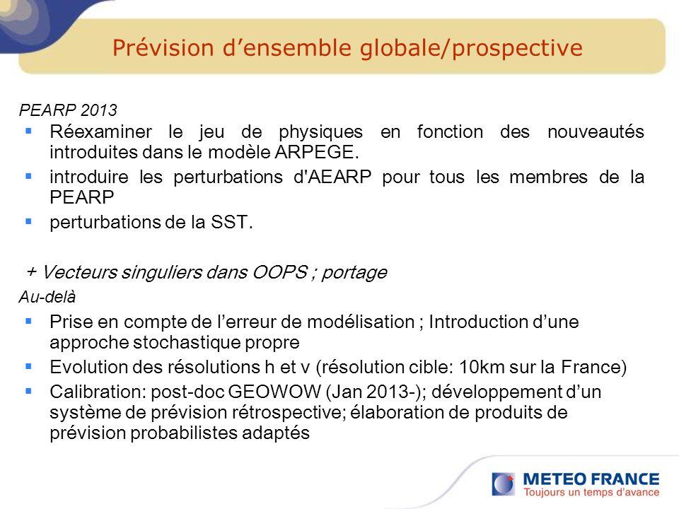 Prévision d'ensemble globale/prospective