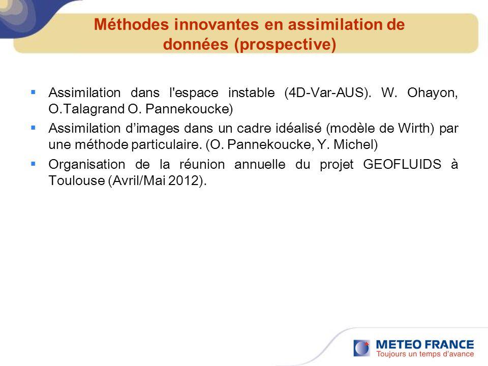 Méthodes innovantes en assimilation de données (prospective)