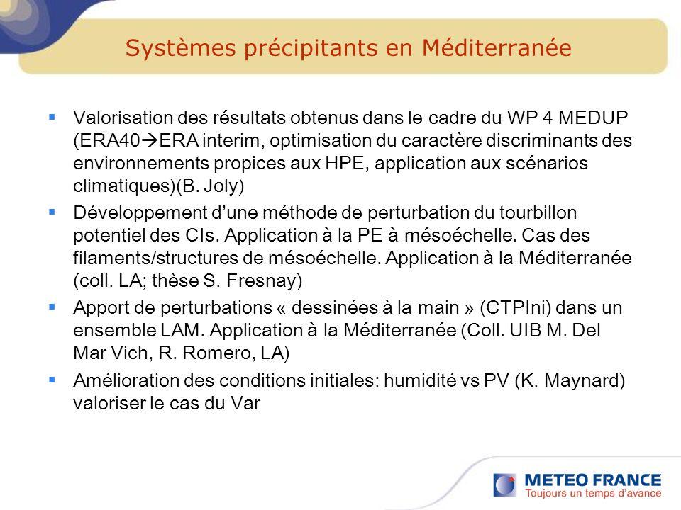 Systèmes précipitants en Méditerranée