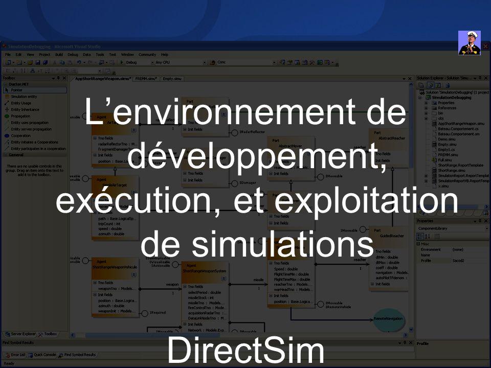 L'environnement de développement, exécution, et exploitation de simulations