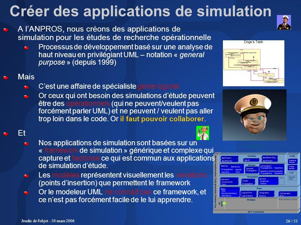 Créer des applications de simulation
