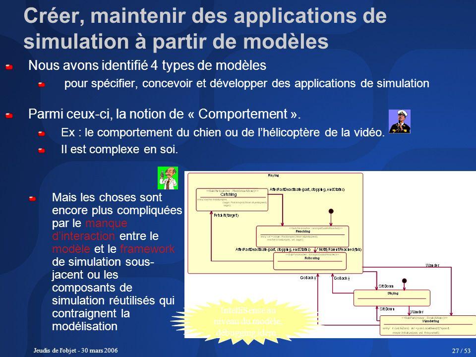Créer, maintenir des applications de simulation à partir de modèles