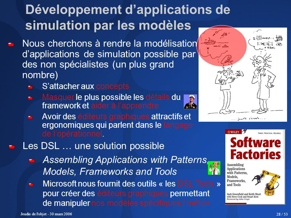 Développement d'applications de simulation par les modèles