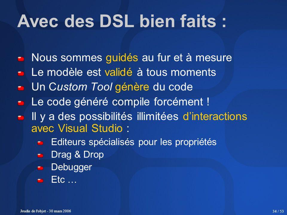 Avec des DSL bien faits :