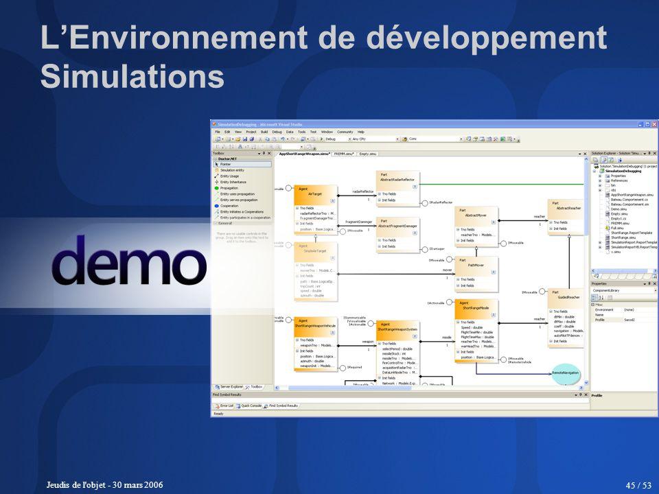 L'Environnement de développement Simulations
