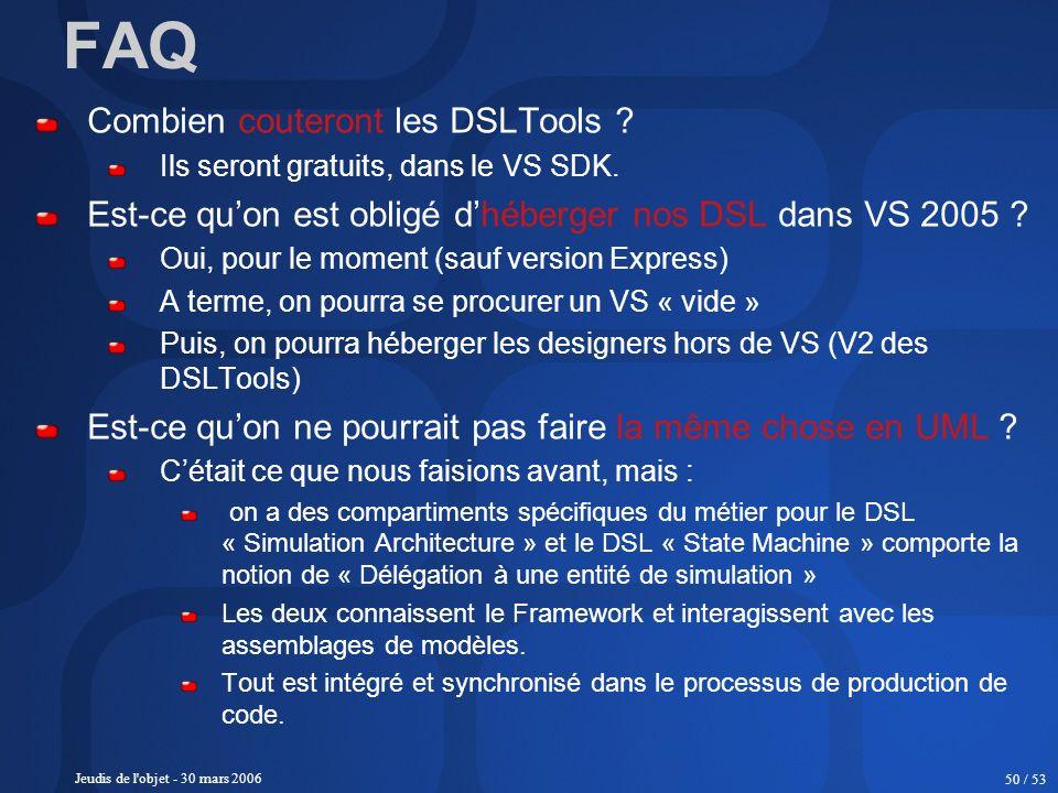 FAQ Combien couteront les DSLTools