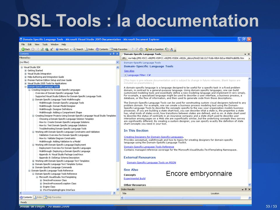 DSL Tools : la documentation