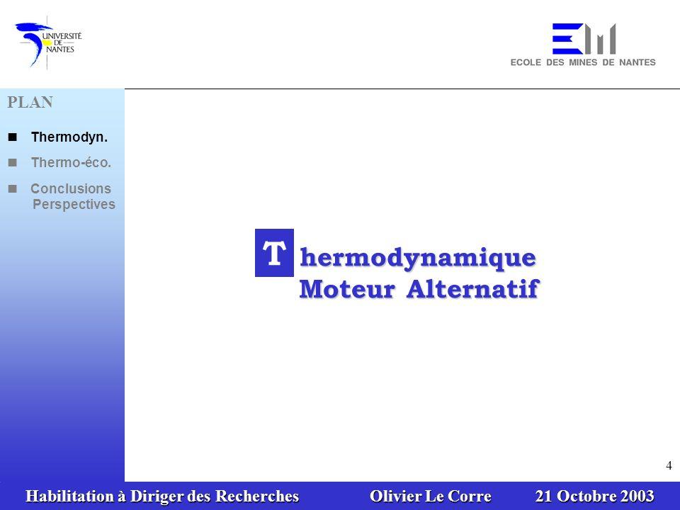 hermodynamique Moteur Alternatif