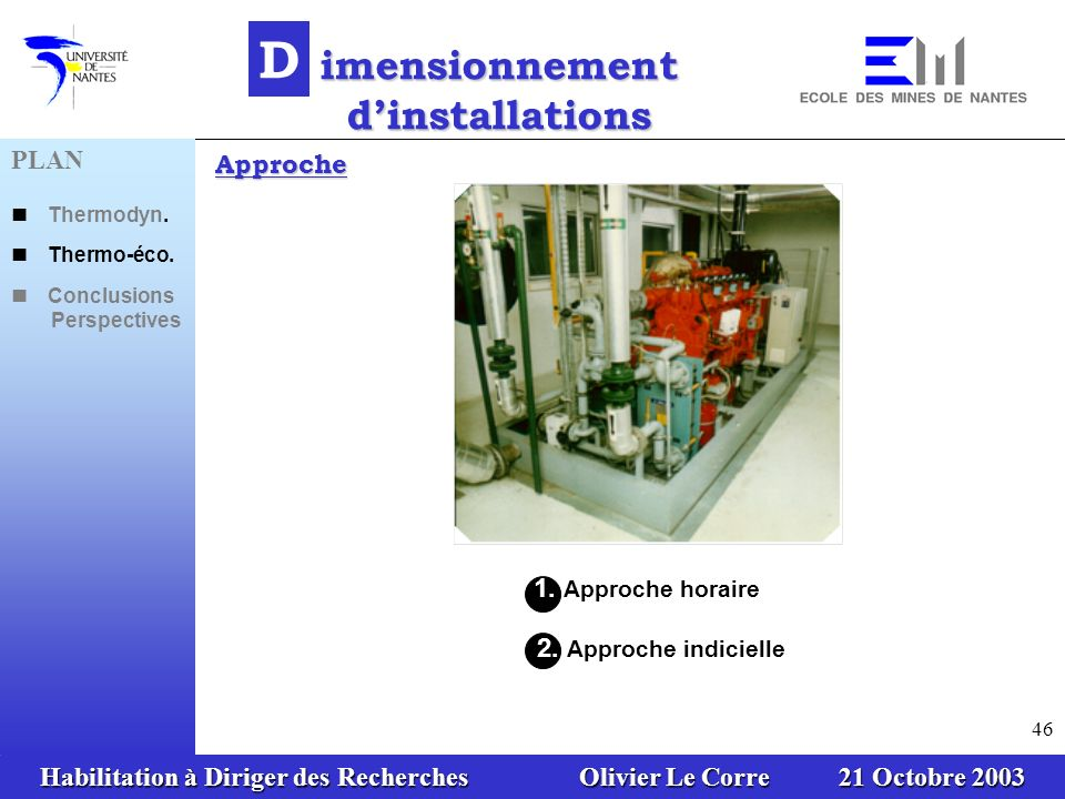 imensionnement d'installations