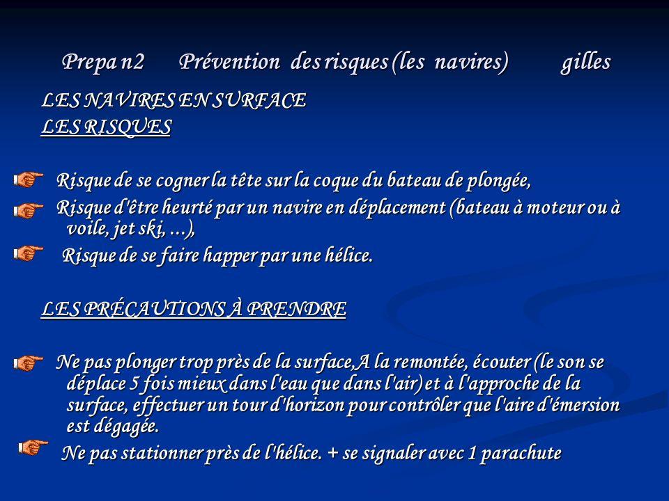 Prepa n2 Prévention des risques (les navires) gilles