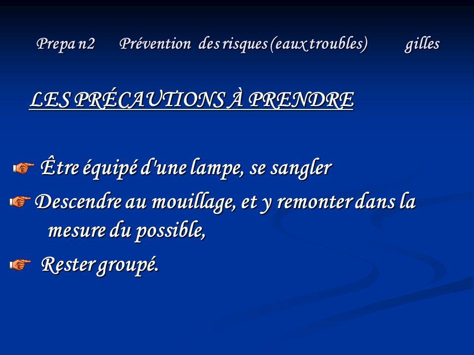 Prepa n2 Prévention des risques (eaux troubles) gilles