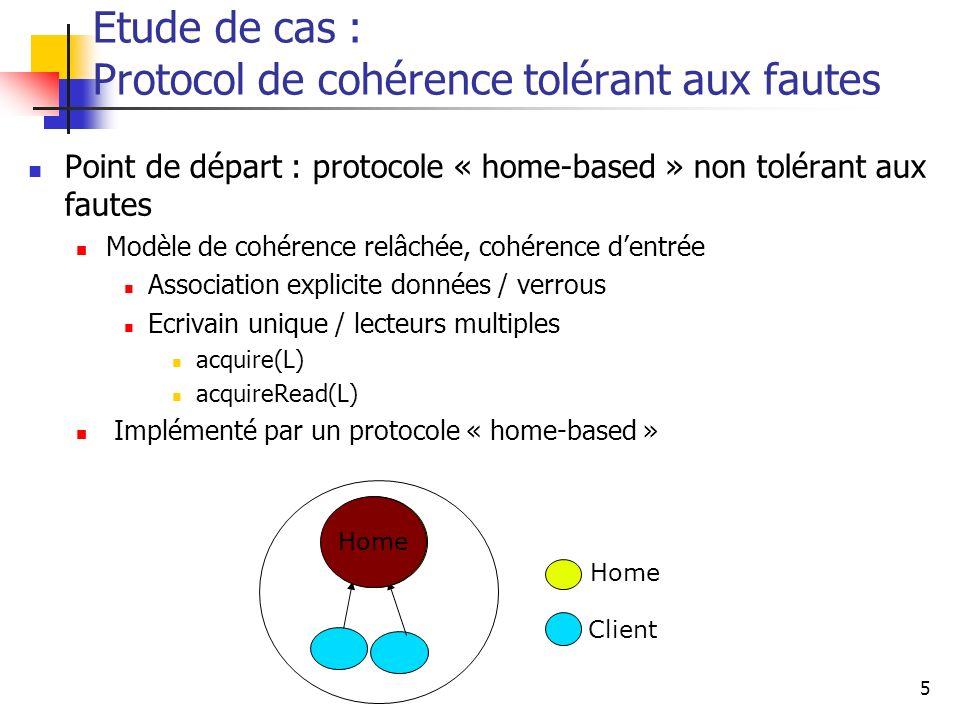 Etude de cas : Protocol de cohérence tolérant aux fautes
