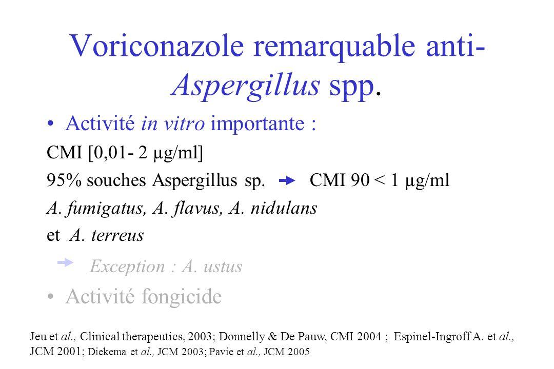 Voriconazole remarquable anti- Aspergillus spp.