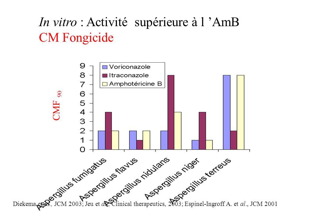 In vitro : Activité supérieure à l 'AmB CM Fongicide