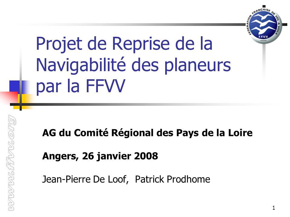 Projet de Reprise de la Navigabilité des planeurs par la FFVV