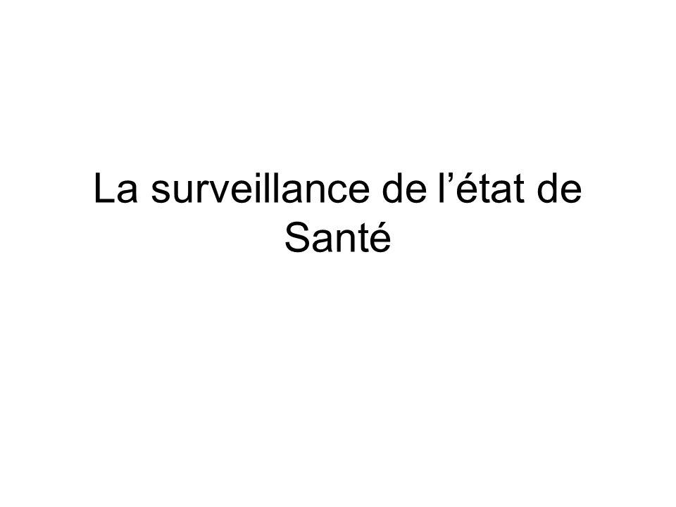 La surveillance de l'état de Santé