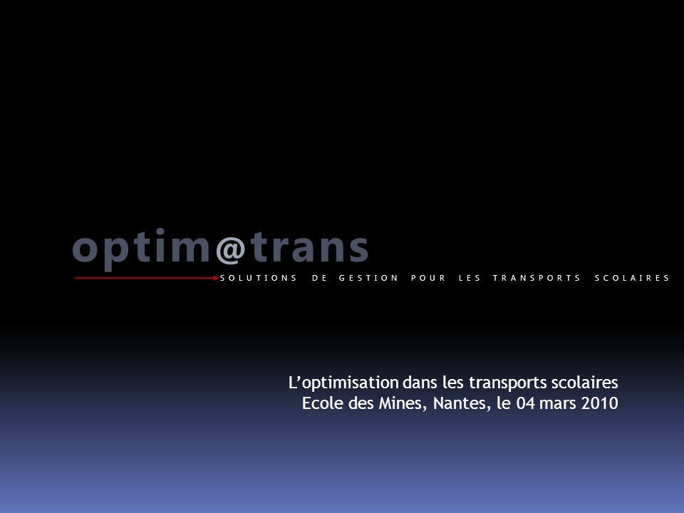 optim@trans L'optimisation dans les transports scolaires